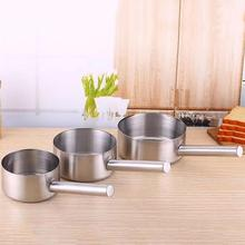 Stainless Steel Not-sticky Milk Pot Saucepan Flat-bottomed Portable Egg Soup Noodle Heating Kitchen Cooking Tool