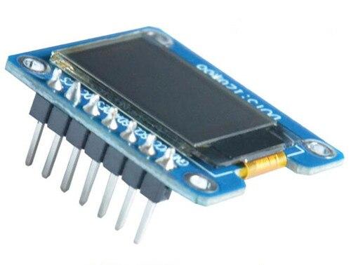 0.73 inch 7PIN SPI White OLED Module SH1107 Drive IC 128*88 IIC Interface