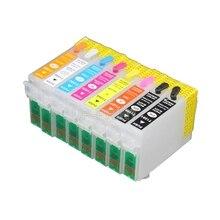 2 zestawy R1900 T0870 t087 kartridż na tusz do ponownego napełniania kompatybilny dla Epson Stylus Photo R1900 1900 T0870   T0879
