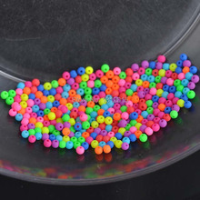 4mm 500pcs mixed Matte Fluorescent Neon Acrylic Seed Spacer
