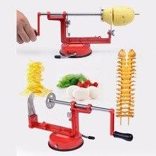 Nuevo manual de acero inoxidable máquina de patata/tornado extraño nuevo hogar cocina slicer tool 2017 hot