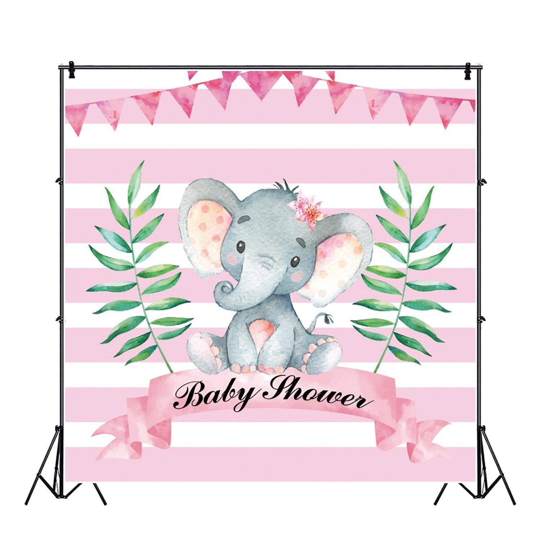 Yeele Pink Elephant Girl Princess Newborn Baby Shower Photography Backdrop Custom Photographic Background For Photo Studio in Background from Consumer Electronics