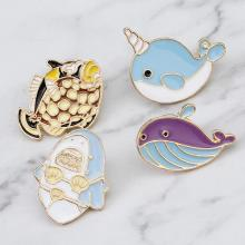 Creative Fun Animal Brooch Cute Cartoon Penguin Whale Jewelry Accessories 2019 New