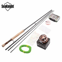 Fly Fishing Rod Combo Set MAXWAY Honor 7/8# 3 Meter Fishing Rod Fast +Reel + 24 pieces Fly Lures + Lure Box