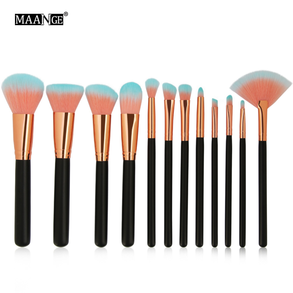 MAANGE Professional Eyeshadow Foundation Makeup Brushes Set Eye Shadow Blending Make Up Brushes Soft Synthetic Hair For Beauty professional 12 pcs blending pencil foundation eye shadow makeup brushes eyeshadow eyeliner