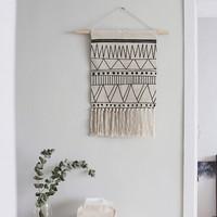 Nordic hand made hook tapestry ,multi function blanket for table runner, bedside blanket ,35*41 cm decoration wall hanging,
