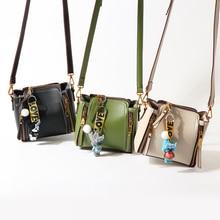 women bucket bag 2017 fashion leather small shoulder bags for teenager girls luxury brand desinger handbags ladies crossbody bag
