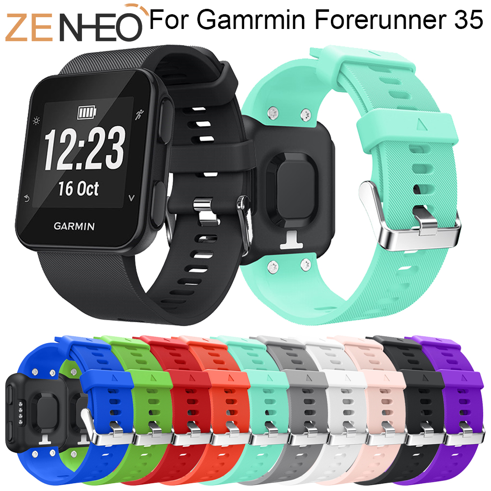 Colorful Silicone Strap Replaceable Watch Band For Garmin Forerunner 35 Wrist Strap For Garmin Forerunner 35 Wristband Bracelet