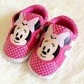 Totem Bebê dos desenhos animados Sapatos de Couro PU Meninas Calçam As Sapatilhas das Crianças Da Criança Do Bebê Calçados Primeiro Walker 1047