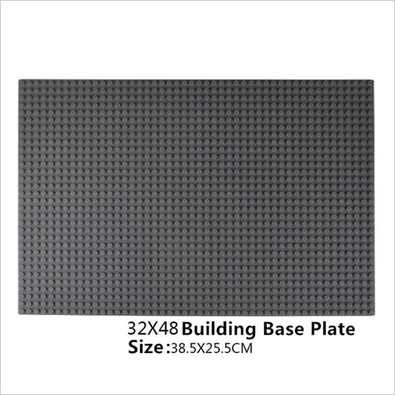 цена на 48*32dots Small Bricks Baseplate DIY Base Plates Board Compatible Legoings 38.5*25.5cm Major Brands Building Blocks for Kids