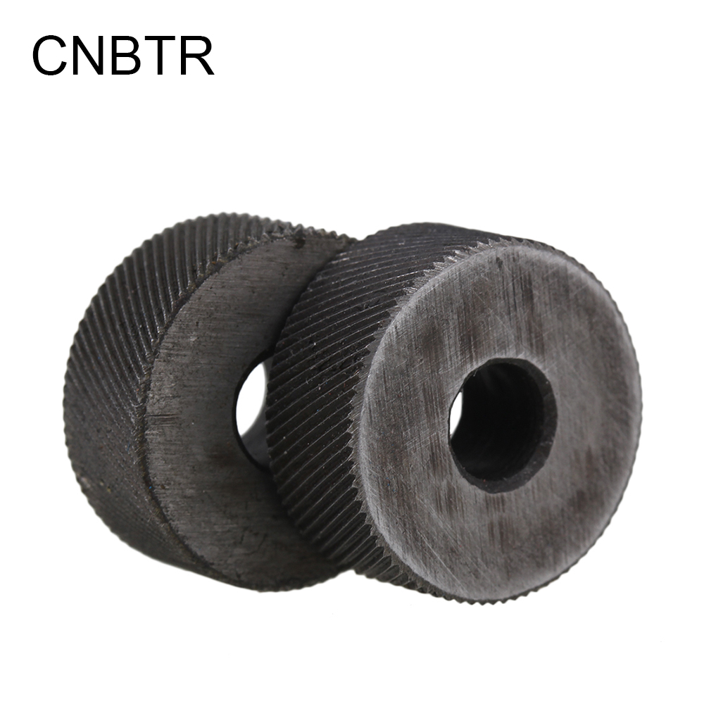 CNBTR 2PCS 0.6mm Pitch Diagonal Coarse 19mm OD Steel Knurling Wheel Tool Roller Tool