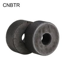 CNBTR 2PCS 0.6mm Pitch Diagonal Coarse 19mm OD Steel Knurling Wheel Tool Roller Tool