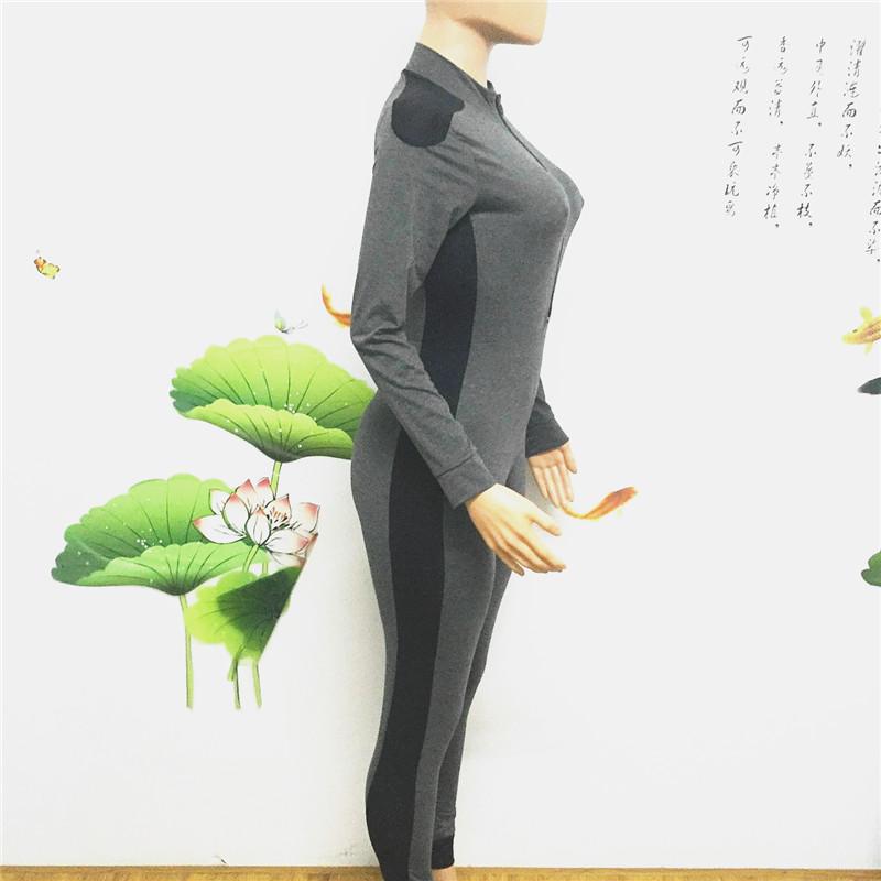 long sleeve full length zipper open close one piece jumpsuit sportswear bodysuit catsuit fitsuit activesuits tracksuit women's plus size sportsuits (5)