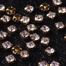 100 Pcs Rhinestones Glass Strass Crystal For Clothes DIY Accessories Sewn Rhinestone On Flatback