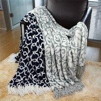 130 160cm Warm Flannel Blanket Pattern Sofa Air Throw Travel Plaids Manta Blanket Soft Bedsheet Tassel