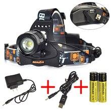Бесплатная доставка 18650 из светодиодов фары 10 Вт 2000 Lumens T6 из светодиодов лампы 5 режим водонепроницаемый фары масштабируемые фар с зарядным устройством + USB