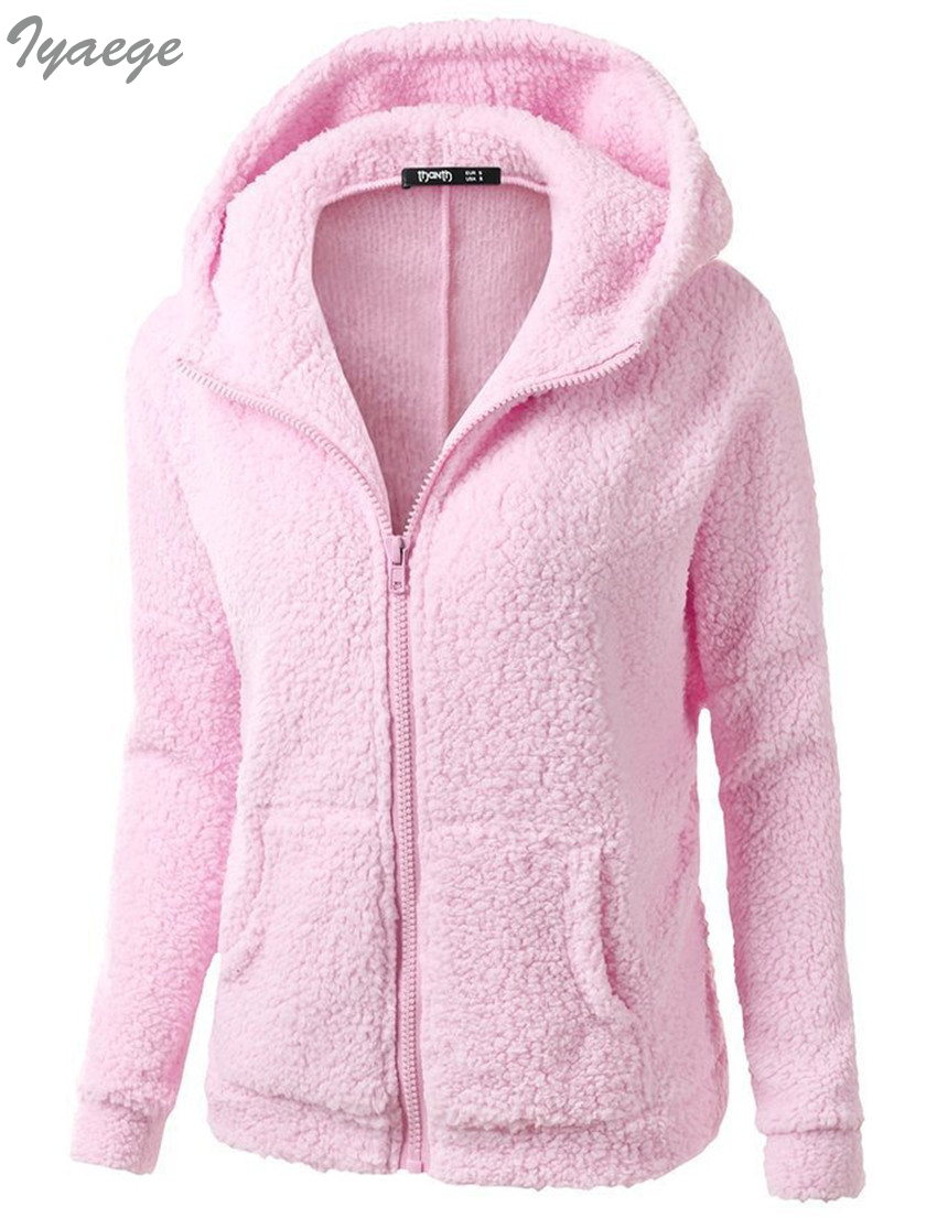 Sudadera con cremallera y forro polar color rosa dise/ño de amapola