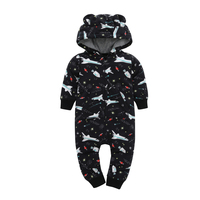 2017 Kids Boys Long Sleeve Clothing Hooded Jumpsuit Newborn Boy Spring And Autumn One Piece Clothes