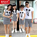 2017 Summer Family Set Couple Clothes Sport Suit Men Boy Clothing Set, Women   Dress Girls Dress family look