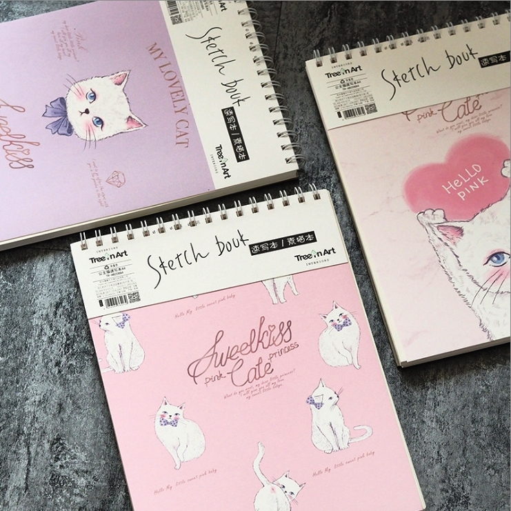 Princess Cat Coil Spiral Cute Notebook Diary Hand Memo Study Journal Notepad Freenote Stationery Gift pink pineapple cute notebook diary hand memo study journal coil spiral notepad