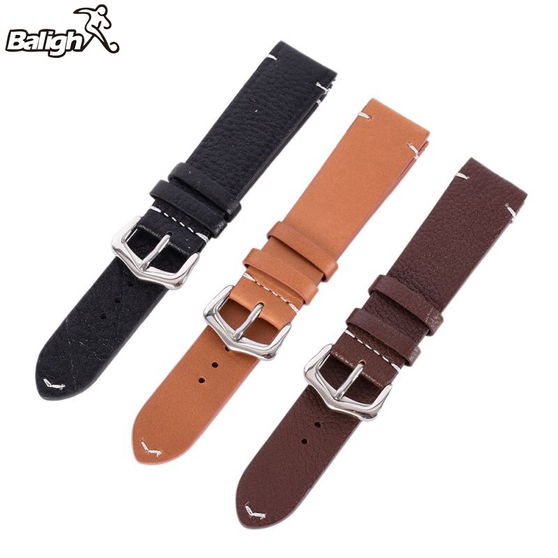 Men Women Vintage Style Faux Leather Watch Strap Band Buckle Belt 18mm 20mm 22mm купить в Москве 2019