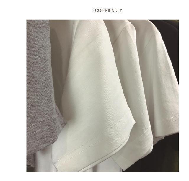 100% Cotton Cat Print Women T shirt  3