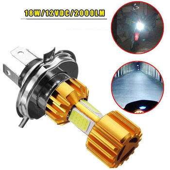 2000LM Super Bright White Motorbike Head Lamp Scooter Accessories Moto H4 Led Motorcycle Headlight 12V LED H4 Led Moto Bulbs