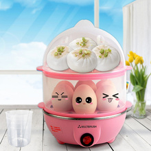 Stainless Steel Egg Boiler Multifunctional Electric Boilers Double Layer Anti-Dry Protection Small Home Appliances For Kitchen