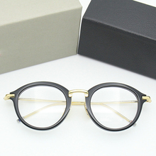 2019 Thom Brnad Eyeglasses Men Women Aceate Vintage Round Optical Prescription