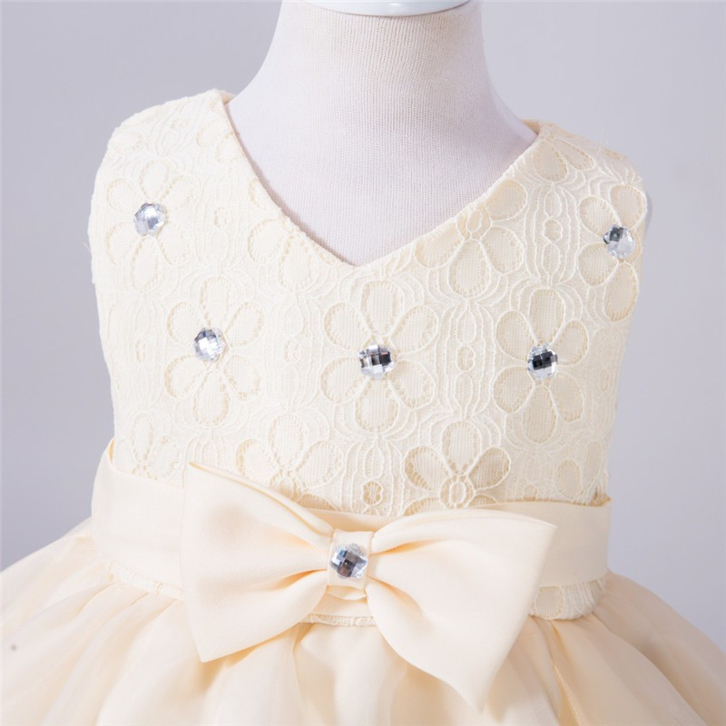Baby Christening Bow Dress (5)