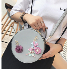 Petrichor Women Crossbody Messenger Tote Bags High Quality Leather Circular Shoulder Bag Female Round Bolsa Handbag Ladies Purse