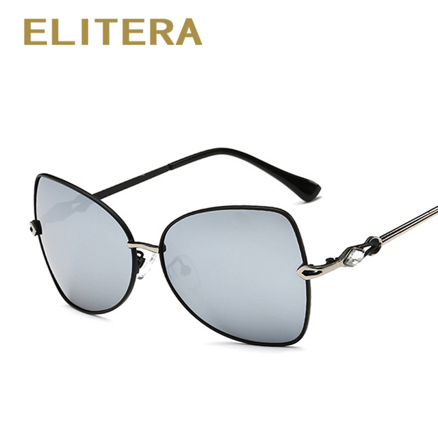 ELITERA Elegance Sunglasses Fashion women's Polarized Sunglasses Driving Alloy Sun Glasses for women Shades with Case 5 Colors