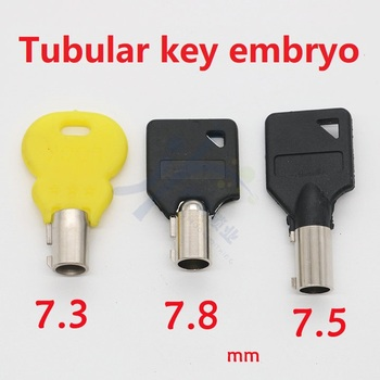 Klucz cylindryczny 7 3 7 5 7 8mm klucz pusty Hollow plum zarodek klucza tanie i dobre opinie RRKING KEY Tubular Key 7 3 7 5 7 8mm