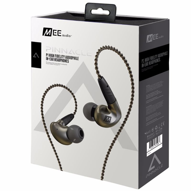 Original MEE Audio Pinnacle P1 Audiophile HiFi In-Ear Earphones with Detachable Cable In-Ear earphones Xtra Silicon/Flange Tips ruige x1 stylish in ear earphones w microphone cable control white 3 5mm plug 127cm