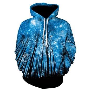 Blue Sky 3D Printed Hoodie