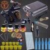 Permanent Makeup Machine Tattoo Kits 8 Wrap Coils Guns Tattoo Machine Set Black Pigment Sets Power