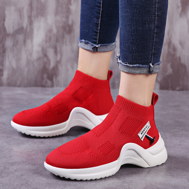 Newest women running shoes Female sport shoes breathable mesh boot women sock sneakers sport walking shoes