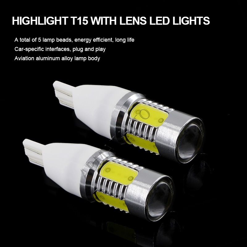 2 x T15 W16W 912 921 High Power Plasma LED Projector Blub Tail Backup Reverse Rear Lights For Koleos Laguna