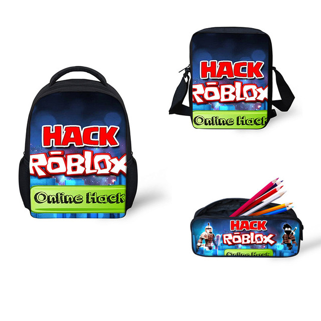4a04e30af0e1 US $7.2 40% OFF|School Bags 3 pcs/Set Cartoon Roblox toys Games Pattern  School Backpack for Girls Boys Schoolbag Kids Bags rugzak backpack mini-in  ...