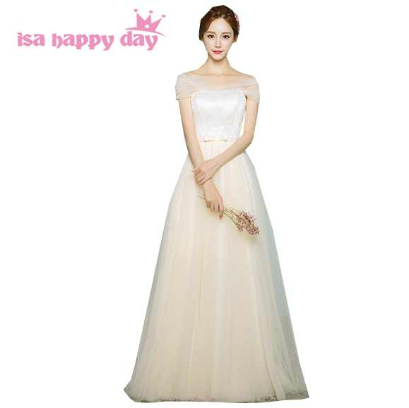 robe de mariage country champagne sweetheart teenage girls tulle puffy   bridesmaid     dress   long   dresses   debut ball gown B3740