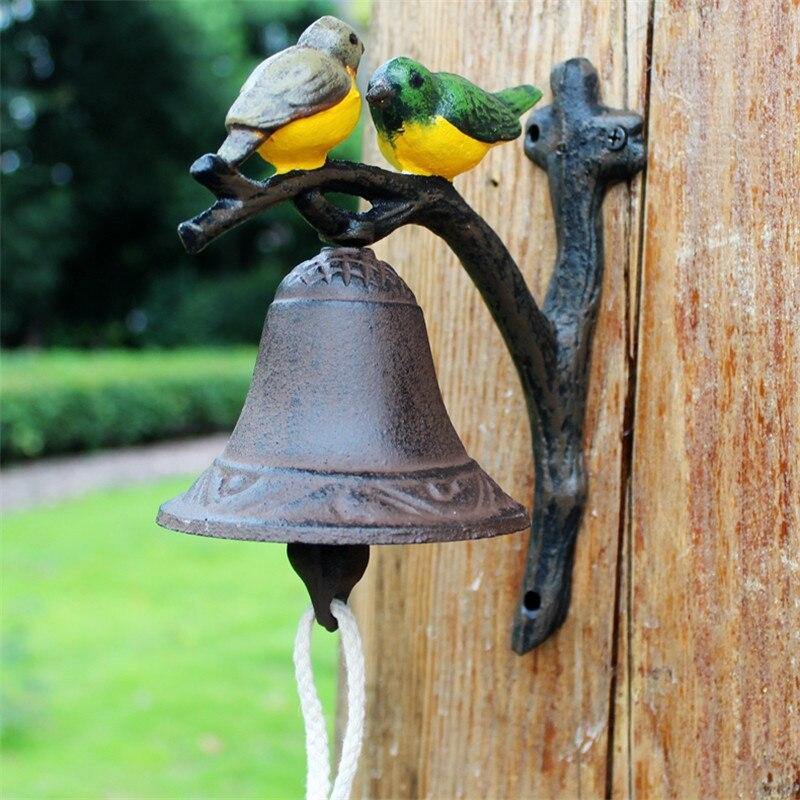 Чугун висит птица Здравствуйте Bell ужин колокол ручная роспись Изделия из металла настенный колокол на дверь Детская украшения ретро - 2