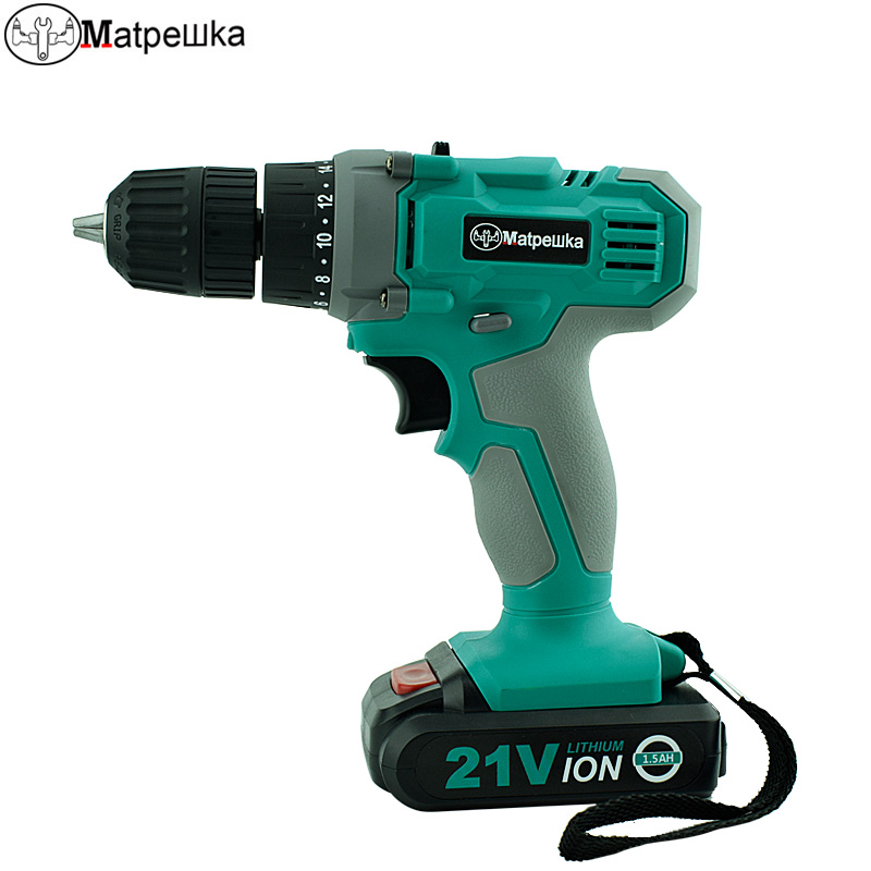 Household Power Tools 21V Cordless Electric Screwdriver Mini Drill Multi-Function Lithium-Ion Rechargeable Electric Drill lanneret 18v lithium ion battery 2 speed cordless drill electric screwdriver household rechargeable drill tools