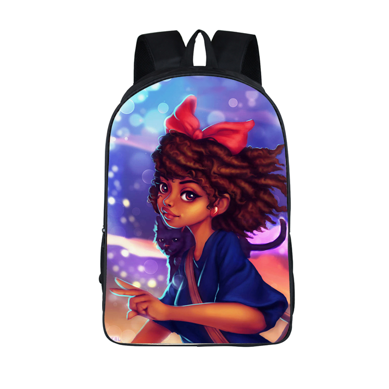 Afro Lady Girl Backpack Africa Beauty Princess Girls Children School Bags For Teenager Brown Girl School Afro Lady Girl Backpack Africa Beauty Princess Girls Children School Bags For Teenager Brown Girl School Backpack Women Book Bag
