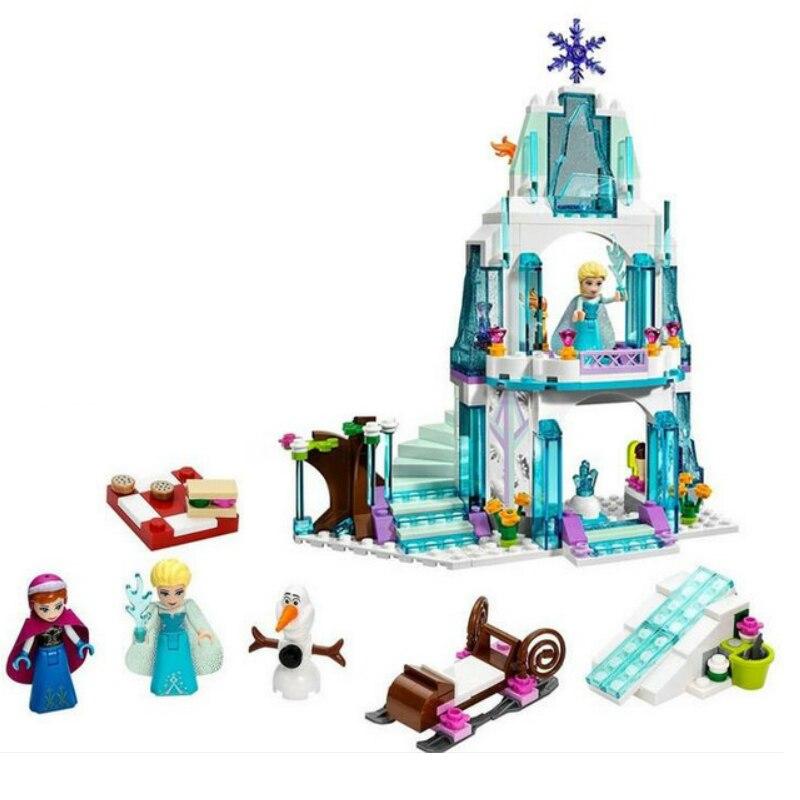 KAYGOO 316pcs Dream Princess Elsa s Ice Castle Princess Anna Olaf Set Model Building font b