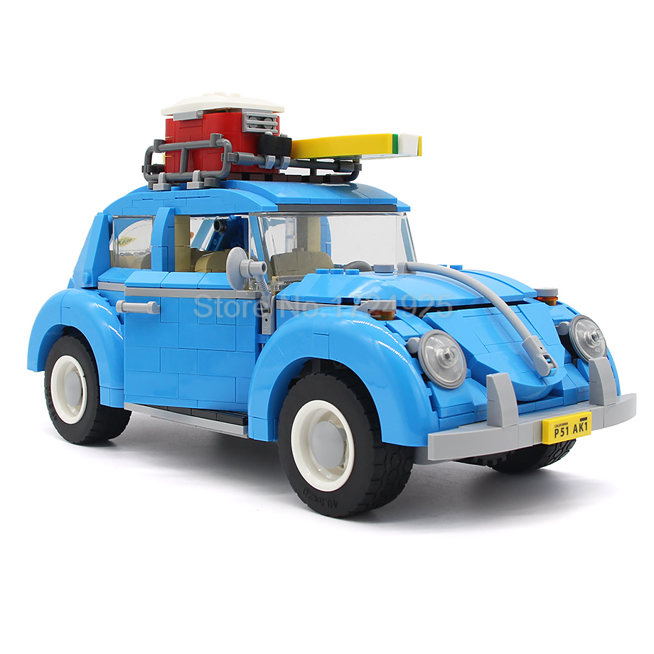 Creator Series City Car Beetle Vehicle Model Building Blocks Set Bricks Car-styling Toys Compatible with 10252 21003 lepin 21003 series city car beetle model building blocks blue technic children lepins toys gift clone 10252