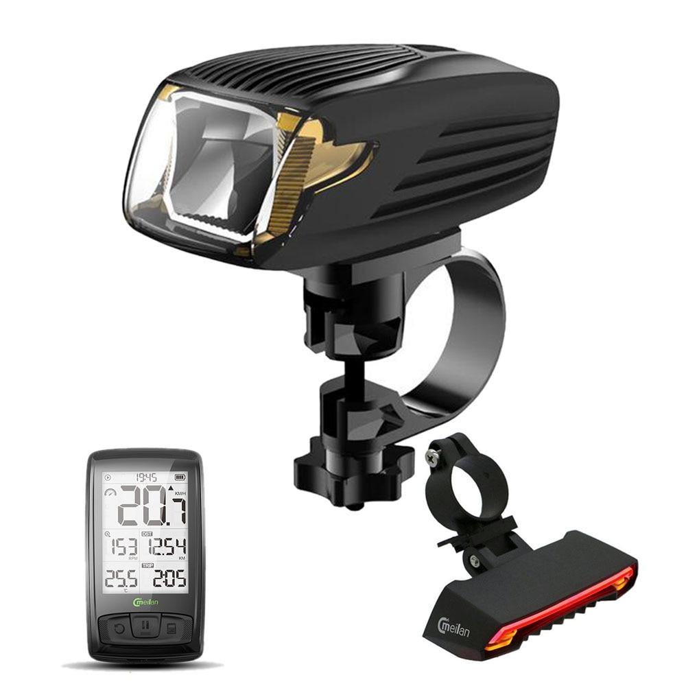 Meilan Bike Computer Speedometer X5 Rear lamp Cycling tail lights X1 Smart Bicycle Light Bike Led Front Light цена 2017