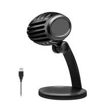 USB Студийный микрофон конденсаторный вещательный микрофон встроенная звуковая карта эхо караоке микрофон для компьютера Youtube Podcast