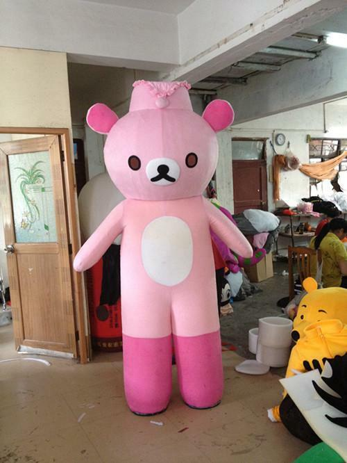 Haute qualité dessin animé marche poupée mascotte mignon Halloween fête Costume taille adulte