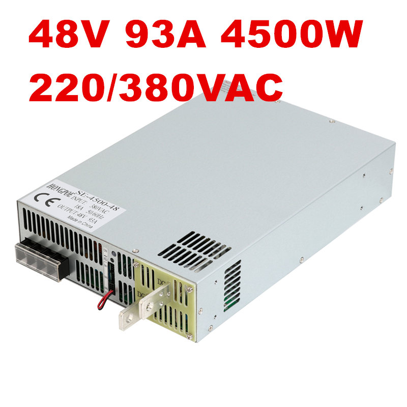 4500W 48V 93A DC0-48V power supply 48V93A AC-DC High-Power PSU 0-5V analog signal control SE-4500-48 DC48V 93A 4500w 36v 125a dc0 36v power supply 36v125a ac dc high power psu 0 5v analog signal control se 4500 36 dc36v 126a
