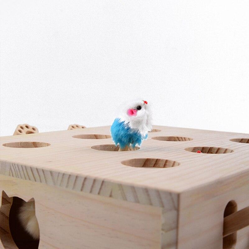 Offre spéciale Pet Hamster chat jouet avec cinq trous souris trou chat attraper morsure interactif jouet Puzzle Pet fournitures chiot jouets - 6